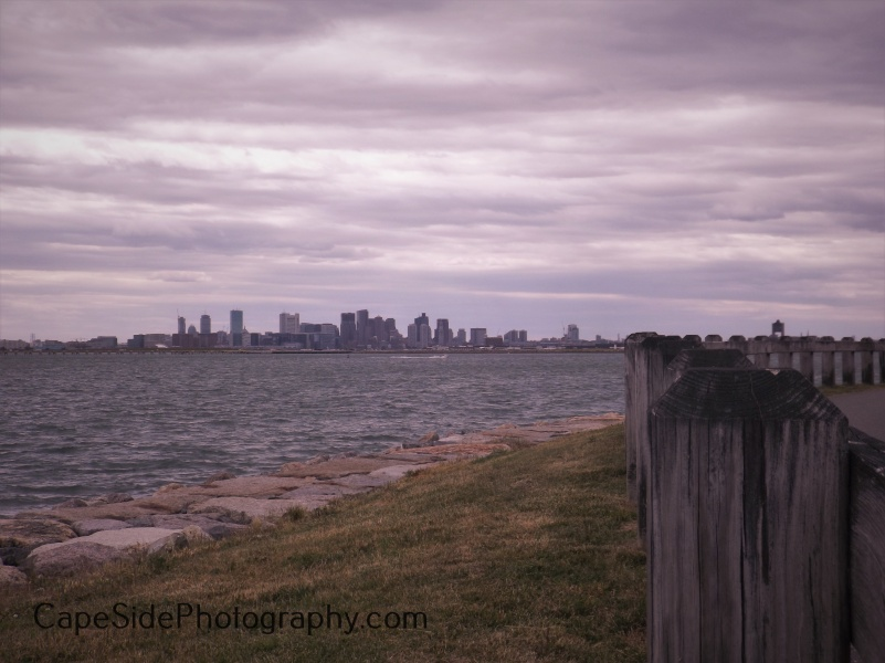 Boston Skyline From Deer Island