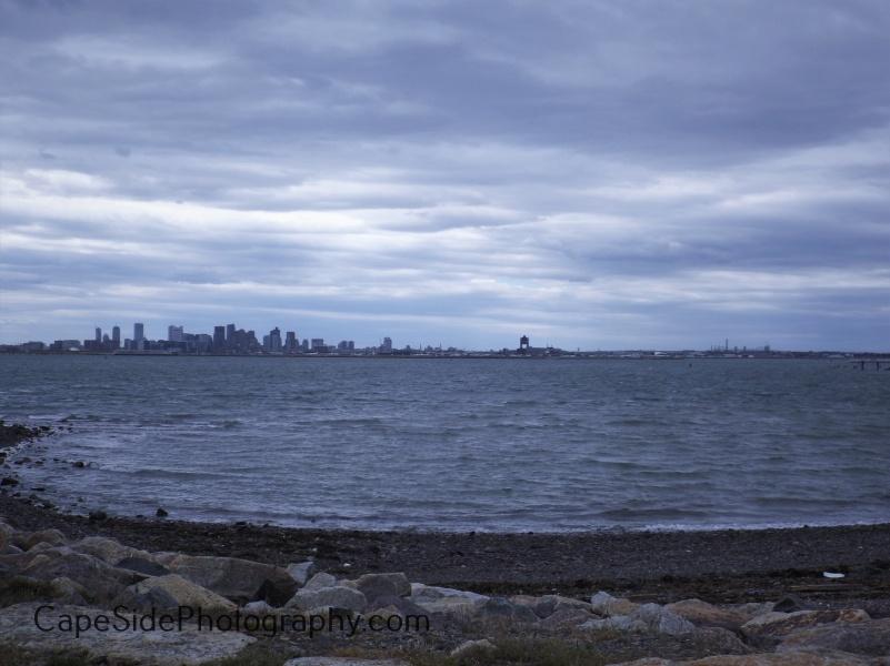 Stormy Boston Harbor