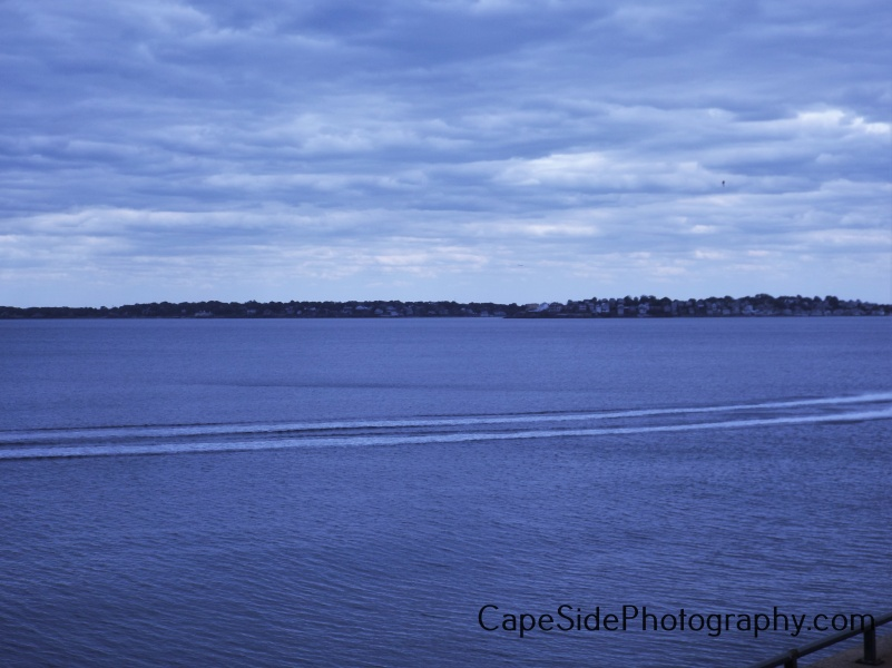 """Wake Lines in Nahant Bay"""