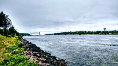 """""""View of the Railroad Bridge from the Bourne Bridge"""""""